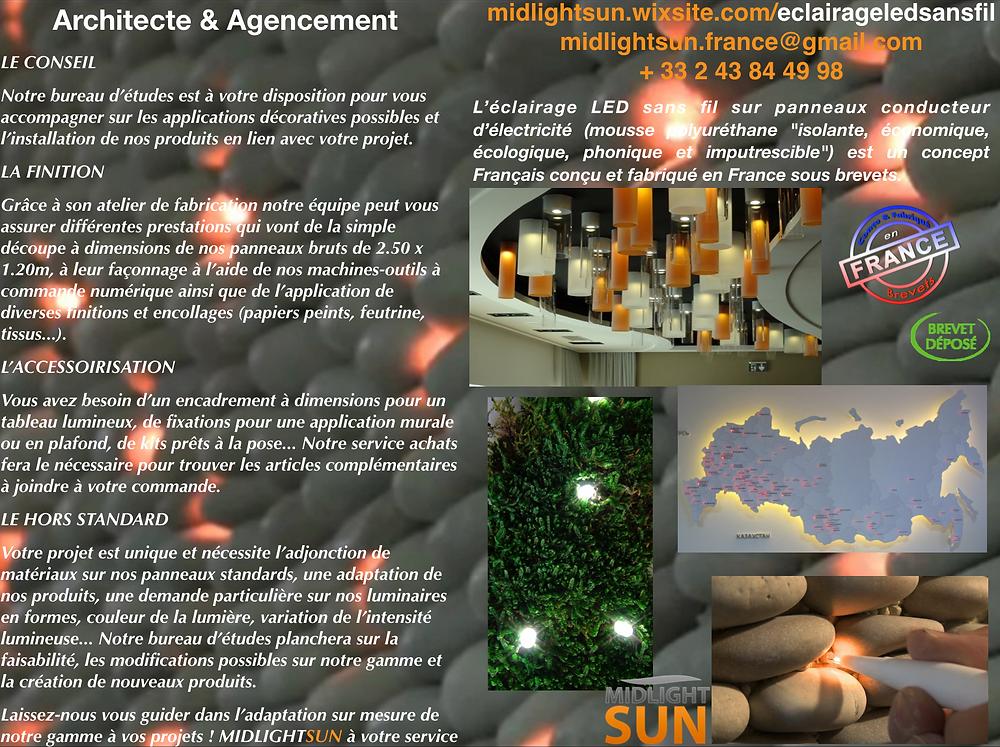 éclairage LEDs sans fil : architecte & agencement - MIDLIGHTSUN LIGHTING Architecte & Agencement