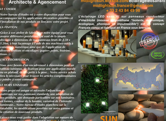 éclairage LEDs sans fil : architecte & agencement - MIDLIGHTSUN LIGHTING Architecte & Agence
