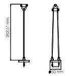 Dimension spot sans fil Grand Cigogne H262,51mm Ø50