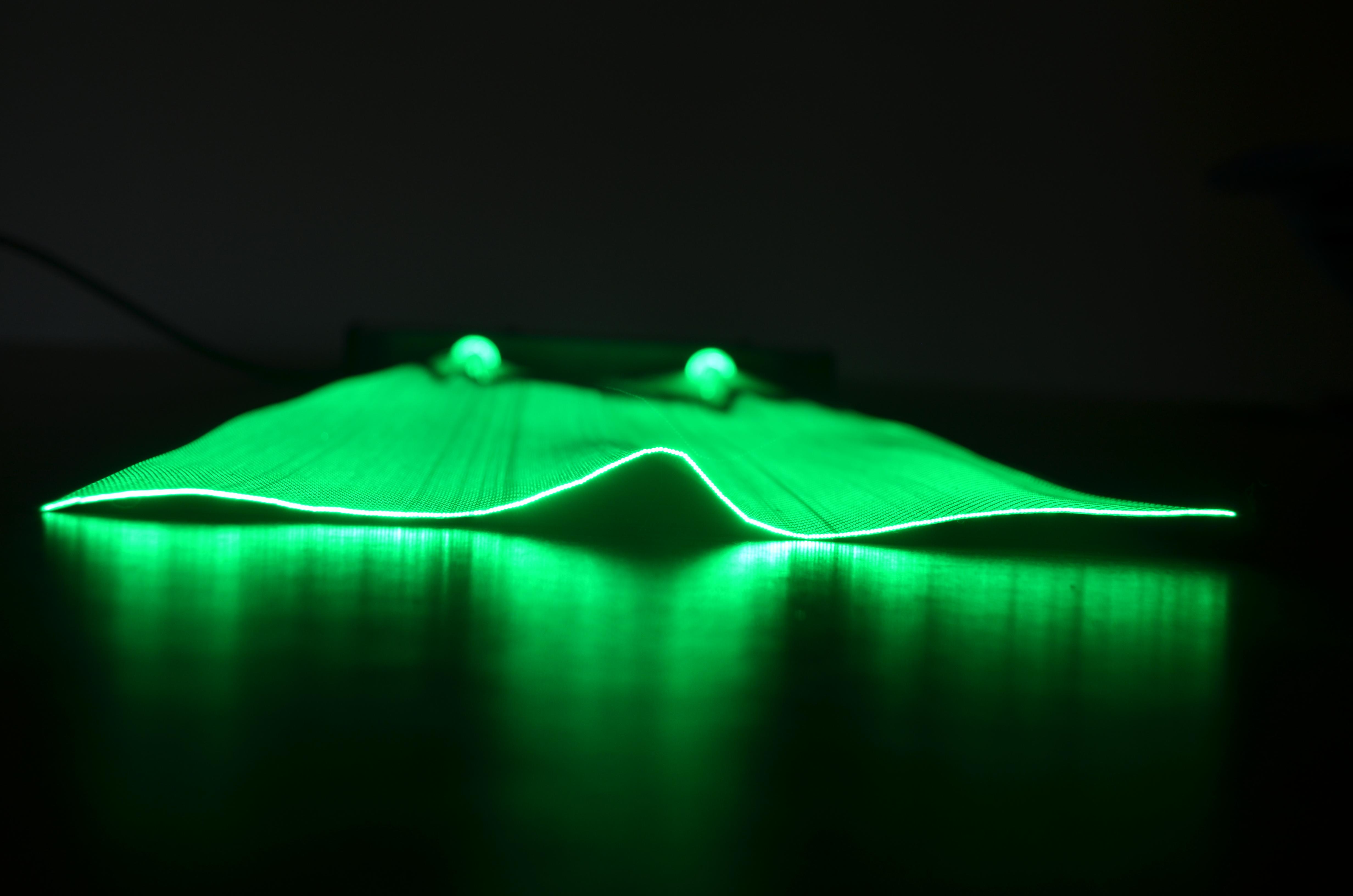 Tissu lumineux en fibre optique