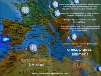 éclairage sans fil : carte lumineuse