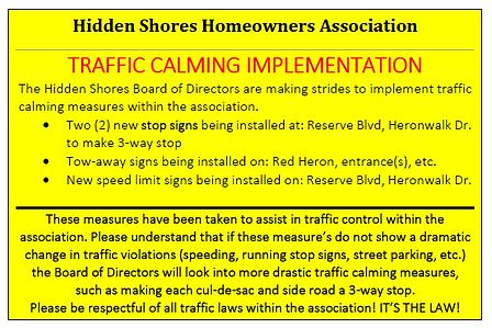 Traffic Calming Implementations, Post Ca