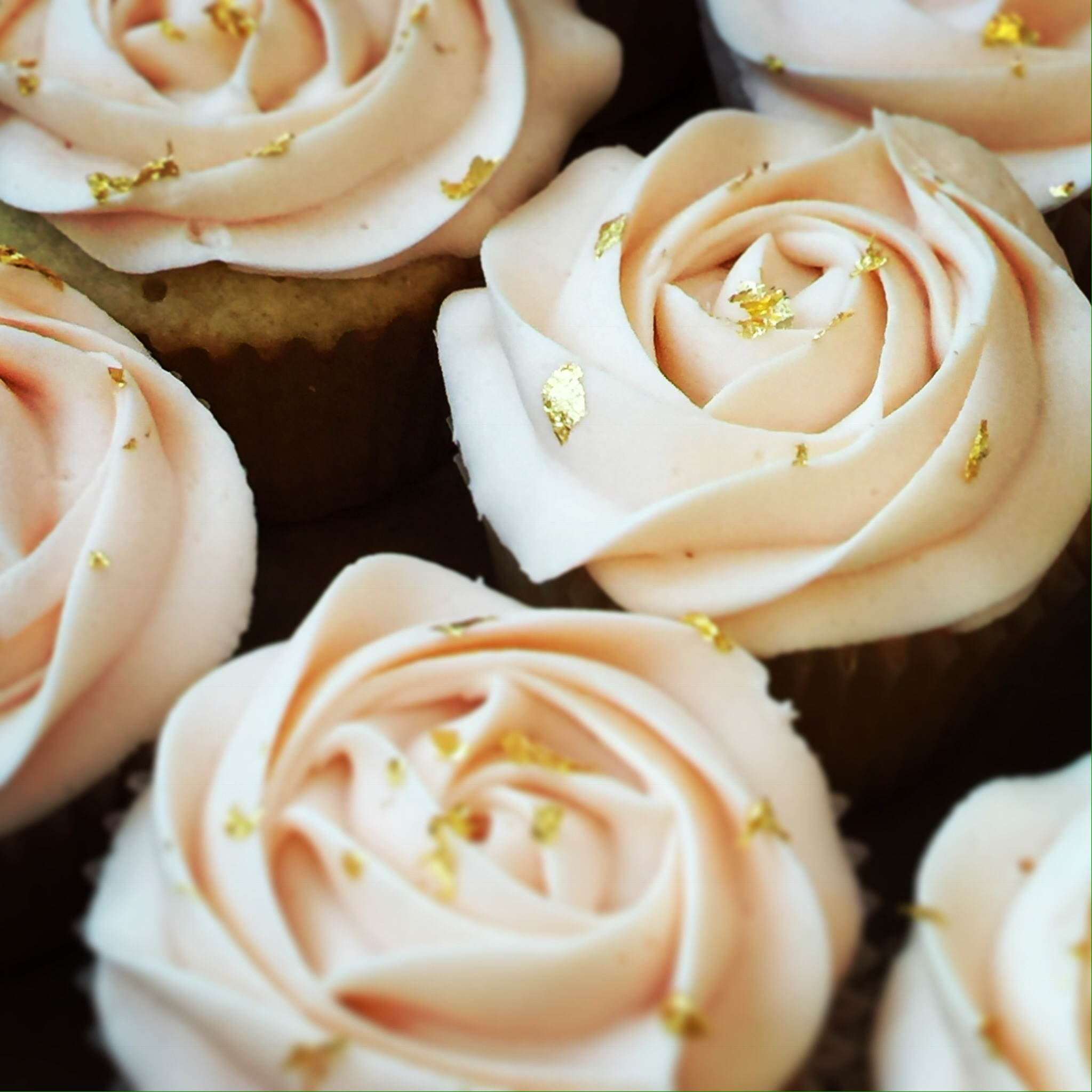 Gold Leaf Cupcakes