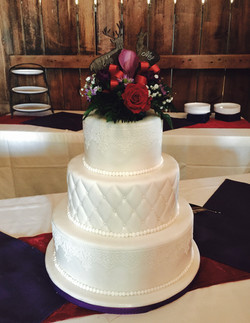 White on White Cake with Edible Lace