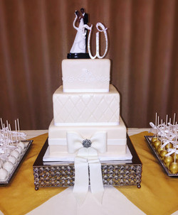 Blush Square Cake