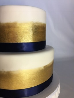 Gold Brushed & Glittered Cake