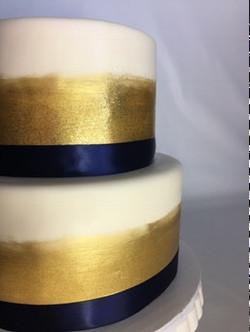 Gold Brushed & Glittered Cake