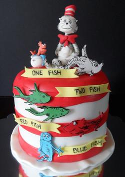 Dr Suess Birthday Cake