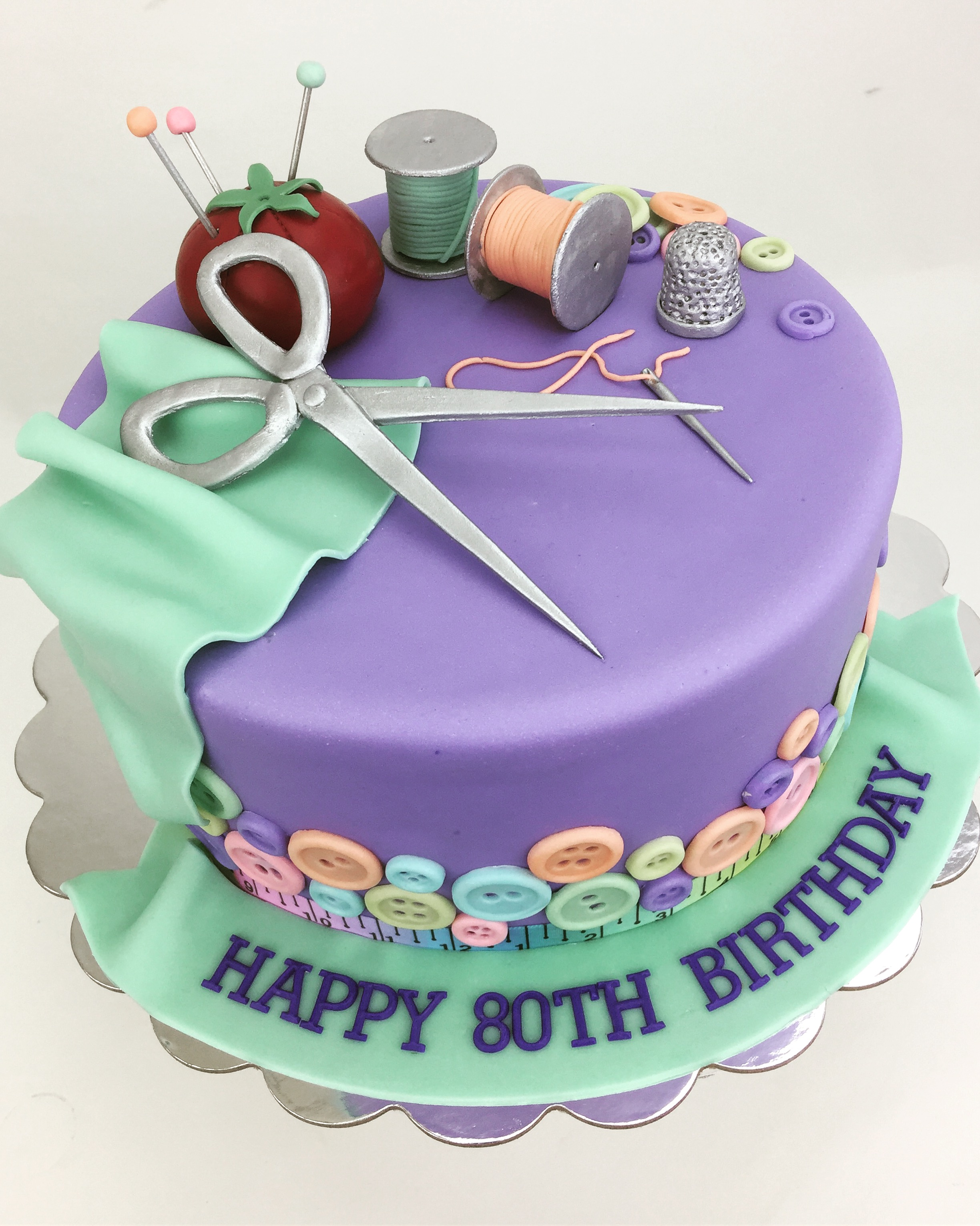 Sewing Birthday Cake