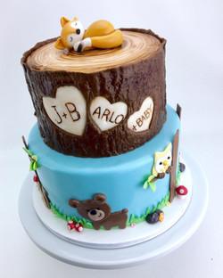 Woodland Babyshower Cake