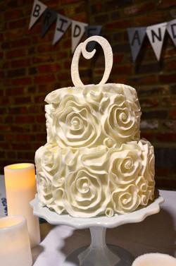 Rose Ruffle Wedding Cake
