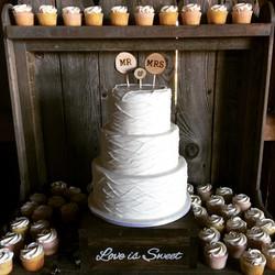 Tangled Strand Wedding Cake