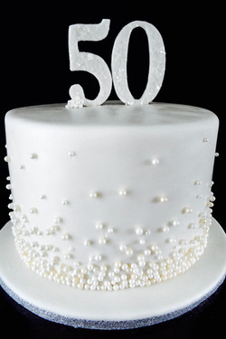 Pearl Accented Anniversary Cake