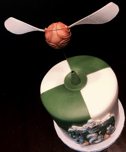 Rotating Snitch Cake