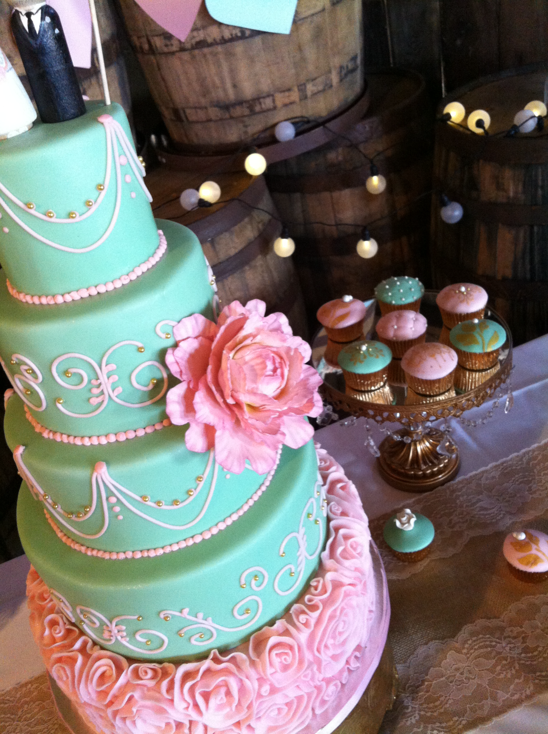 Wedding Cake & Designer Cupcakes