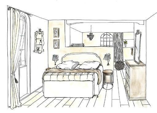 VA Décoration - Plan vue décoration architecture d'intérieur suite parentale dressing chambre salon