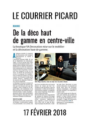 VA Décoration - Article Le Courrier Picard