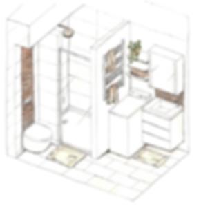VA Décoration - Plan salle de bain décoration architecture