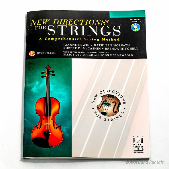 New directions for strings violin, viola, cello and bass.