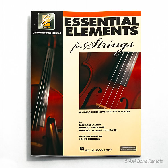 """Music Book: """"Essential Elements for Strings"""""""