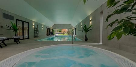 Kingshay Barton, Somerset, UK.  Indoor pool, hot tub & sauna
