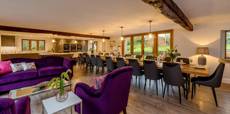 Kingshay Barton, Somerset, UK.  Kitchen & Dining Area