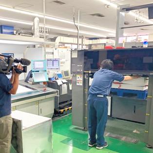 「NHKニュース おはよう日本」の特集で印刷の様子が撮影されました