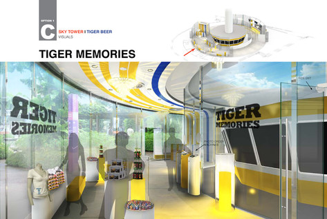 Sentosa Sky Tower - tiger beer concept