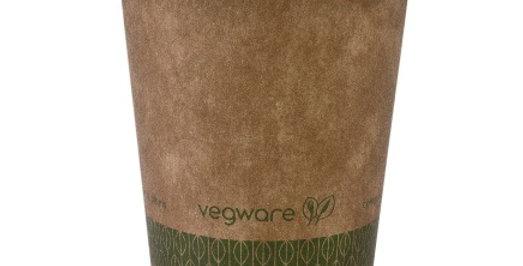 1,7dl-es komposztálható barna  kávés pohár 22,5Ft/db