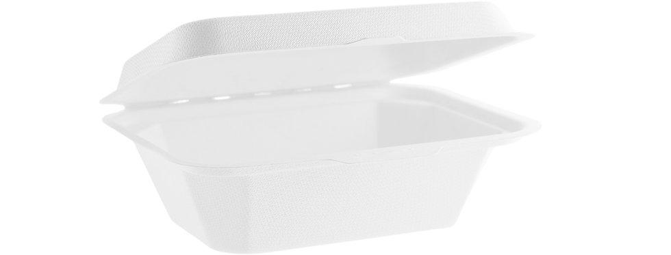 17,7x12,5 cm-es erős falú komposztálható cukornád elviteles doboz 62,6 Ft/db