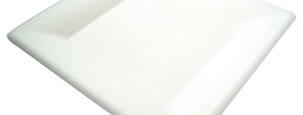 25 cm-es négyzet alakú komposztálható tányér 55,5 Ft/db