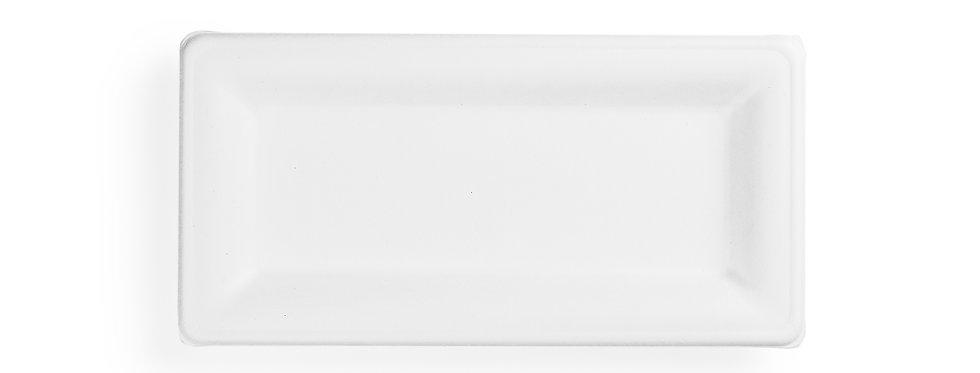 25x12 cm-es téglalap alakú komposztálható cukornád tányér 29,7 Ft/db