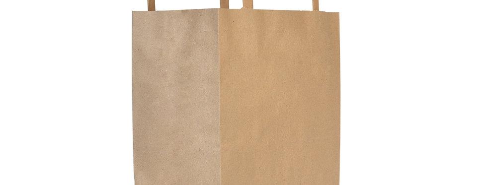 nagy újrahasznosított papírtáska 44,6 Ft/db