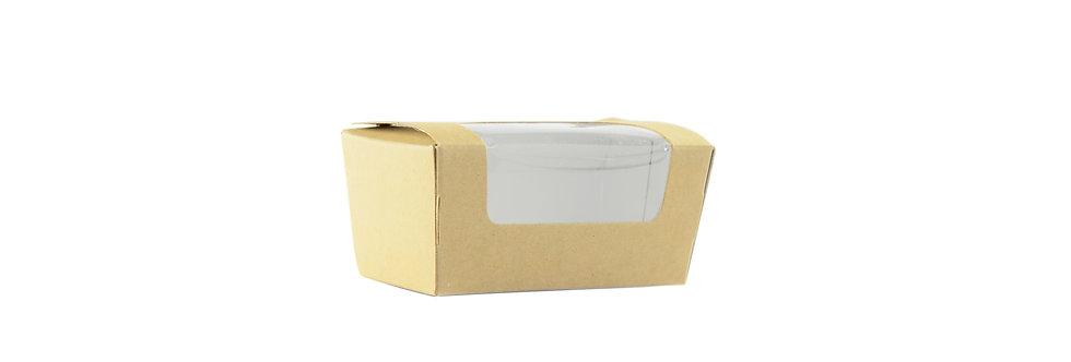 Komposztálható szeletelt süteményes doboz 69,8Ft/db