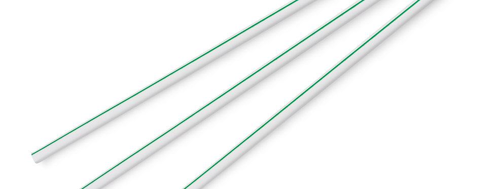 5mm-es fehér zöld csíkos komposztálható ecovio szívószál 6,4 Ft/db