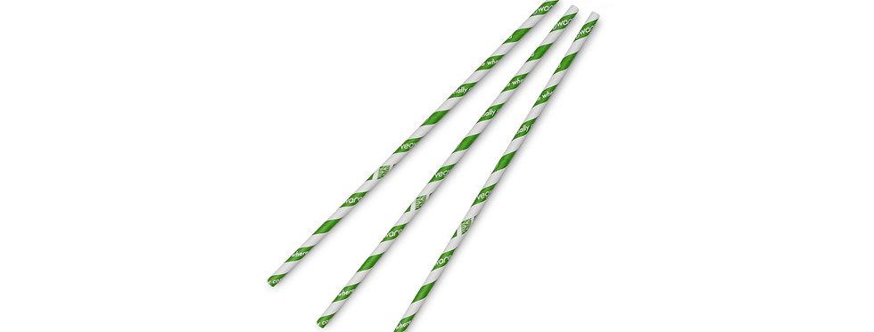 6 mm-es zöld komposztálható papír szívószál 9 Ft/db