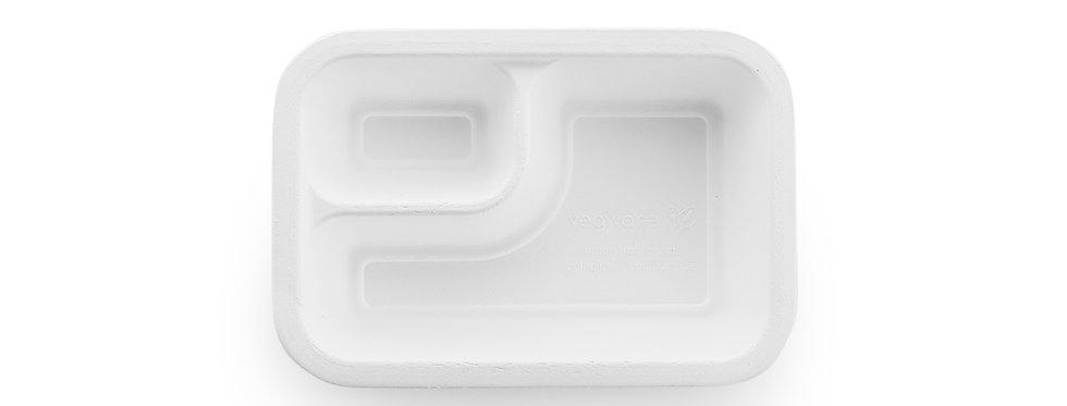 V3 360 ml-es lebomló osztott Gourmet doboz cukornádból 30,5Ft/db