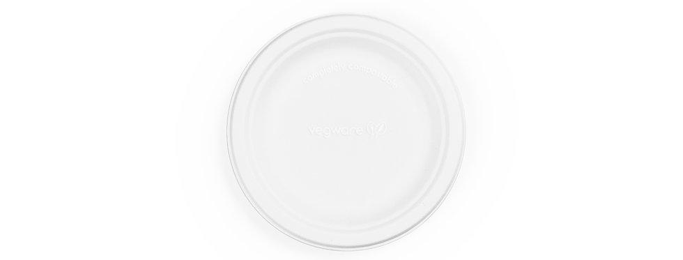 15 cm-es környezetbarát eldobható kerek cukornád tányér 15Ft/db