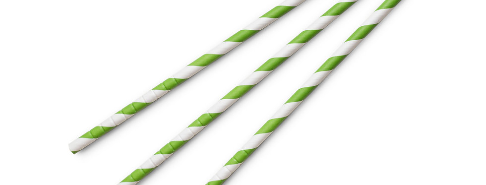8 mm-es zöld komposztálható papír szívószál 10 Ft/db