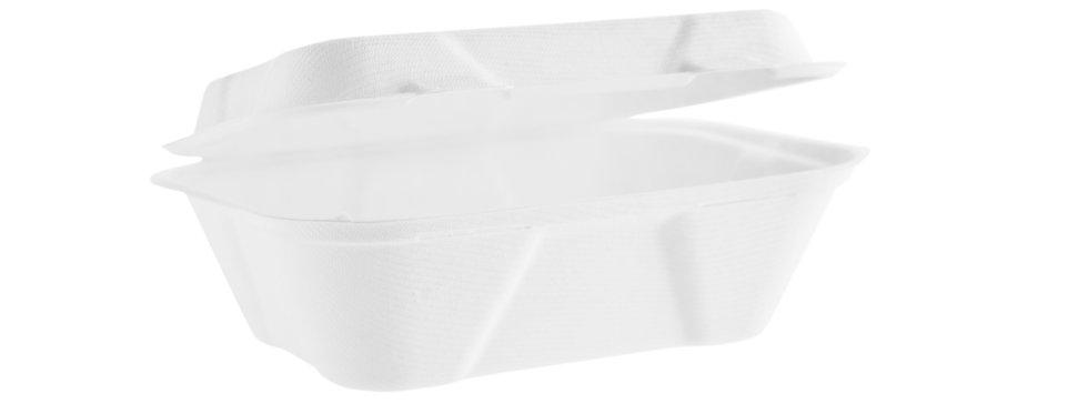 17,7x12,5cm-es komposztálható cukornád elviteles doboz 44 Ft/db