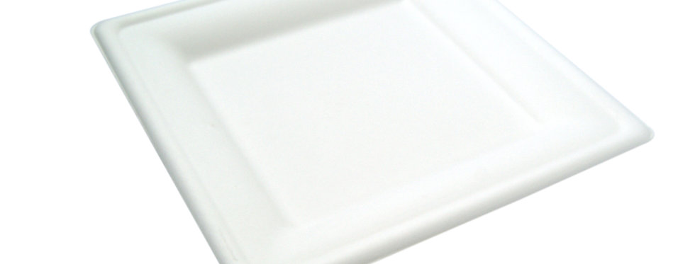 20 cm-es négyzet alakú komposztálható cukornád tányér 35 Ft/db
