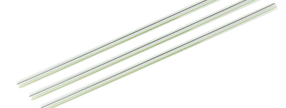 7mm-es zöld csíkos komposztálható PLA szívószál 7,4 Ft/db