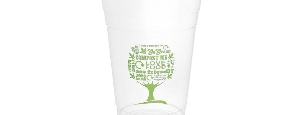 4,7 dl-es komposztálható, lebomló PLA pohár- Green Tree 40 Ft/db