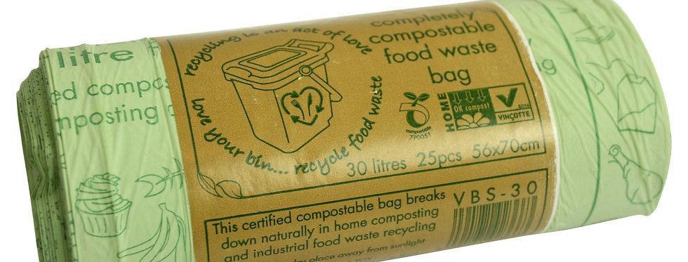 30literes komposztálható szemeteszsák  86,5Ft/db