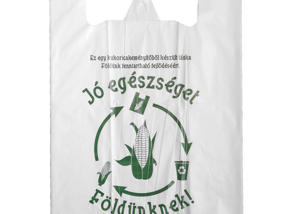 Kukoricakeményítőből készült ingvállas táska 24x45 cm-es 25 Ft/db