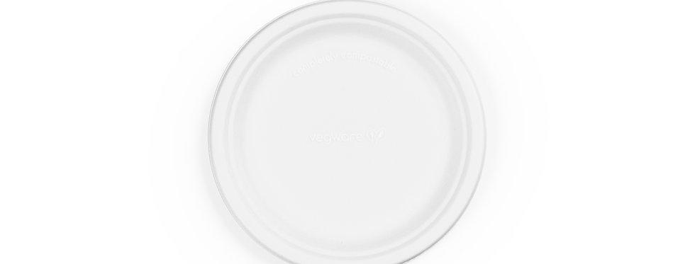 18cm-es környezetbarát eldobható kerek cukornád tányér 22,5 Ft/db