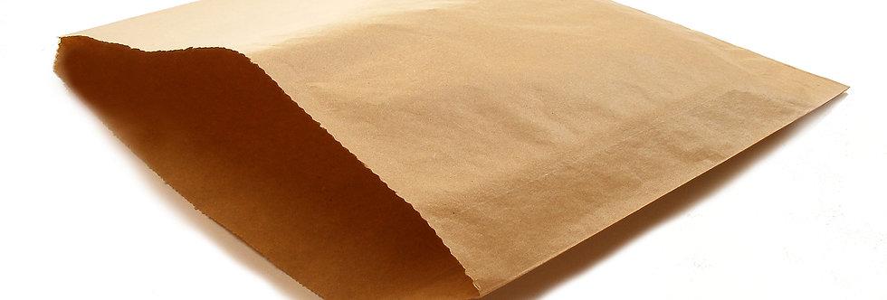 21,5x21,5 mm-es újrahasznosított barna papírzacskó 4 Ft/db