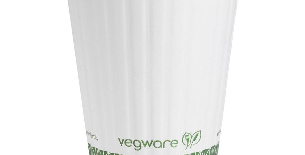 3,6 dl-es domború falú komposztálható lattes papírpohár 35 Ft/db