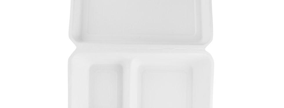 23x15 cm-es 2 rekeszes komposztálható cukornád elviteles doboz 64 Ft/db