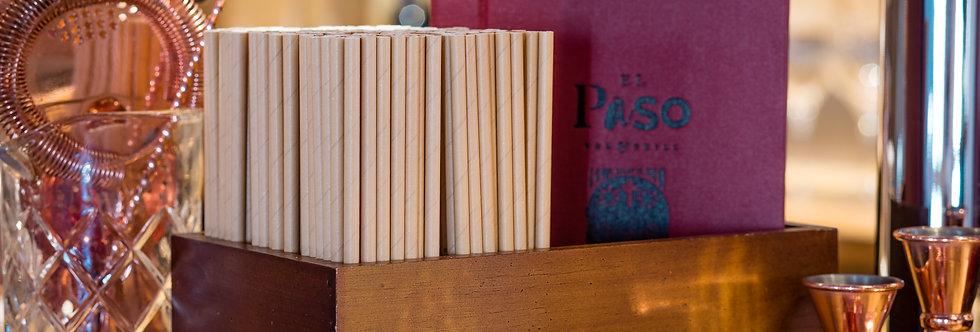 Kraft komposztálható papír szívószál 200mm hossz 12Ft/db